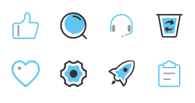 Blue whale collar Icons
