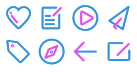 Two color linear Icon Icons