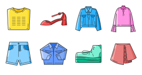 Icon for new clothes in spring Icons