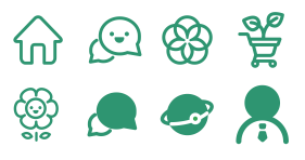 Monochromatic Green Icon Icons