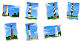 NC Lighthouses Icons
