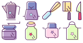 Kitchen supplies Icons