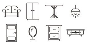 Living furniture Icons