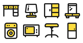 Simple home life Icons