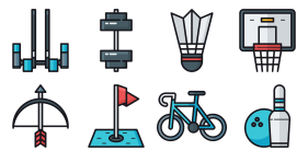 Sports fitness Icon Icons