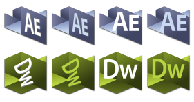 Origami Adobe CS Series Icons