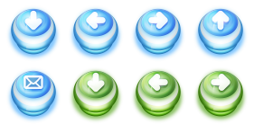Pushdown Buttons Icons