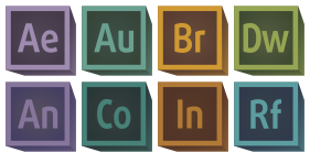 Retro 3D Adobe CC Icons