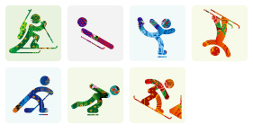 Sochi 2014 Color Icons