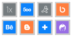 Social Stamps Icons