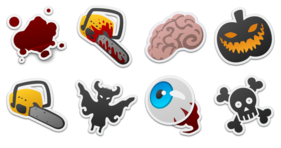 Spooky Stickers Icons