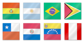 Sud American Flags Icons