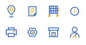 Warehouse management and distribution project Icon Icons