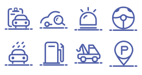Car service related icons Icons