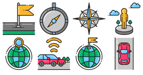 Color transportation Icon Icons