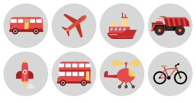 Transportation construction tools Icons