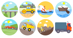 Vehicle color icon Icons