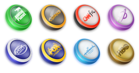 TV Buttons 2 Icons