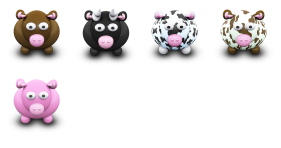 We Love Cows Icons