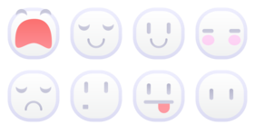 White Emoticons Icons