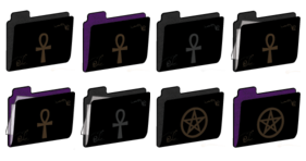 wiccan folders Icons