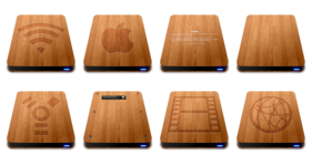 Wooden Slick Drives Icons